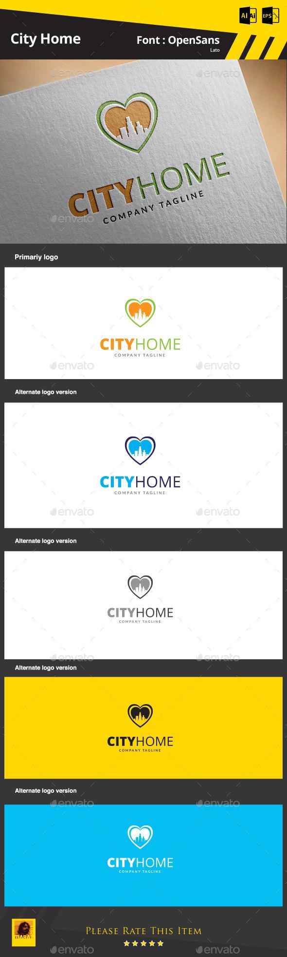 City Home - Buildings Logo Templates