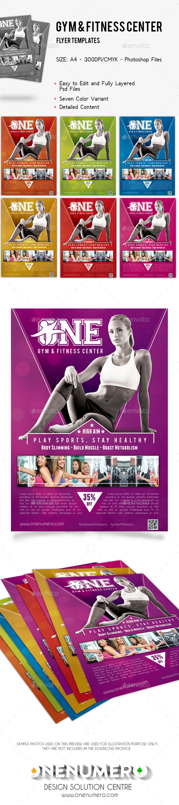 Gym Fitness Center Flyer Template