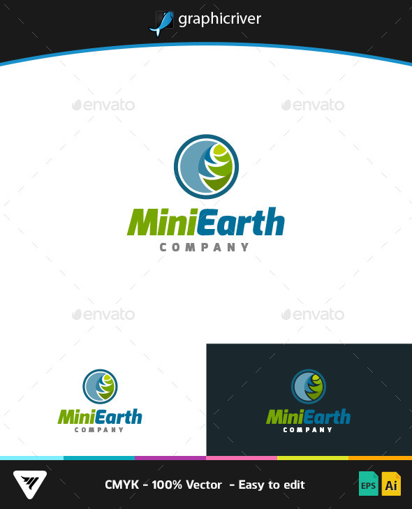 Mini Earth Logo - Logo Templates