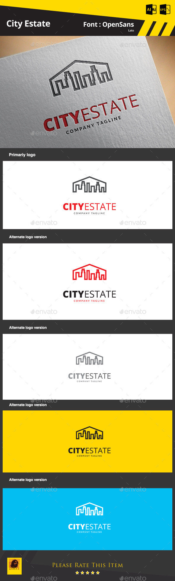 City Estate - Buildings Logo Templates