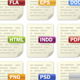 Vector Filetype Document Icons - GraphicRiver Item for Sale