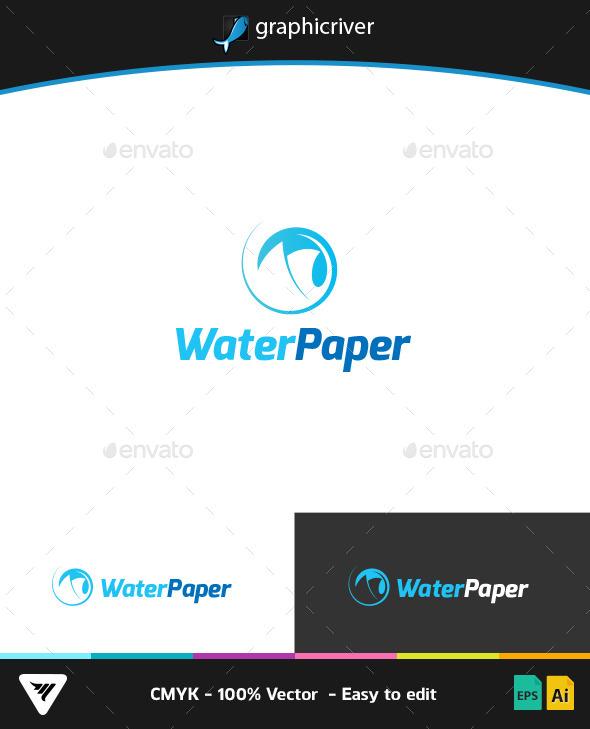 Water Paper Logo - Logo Templates