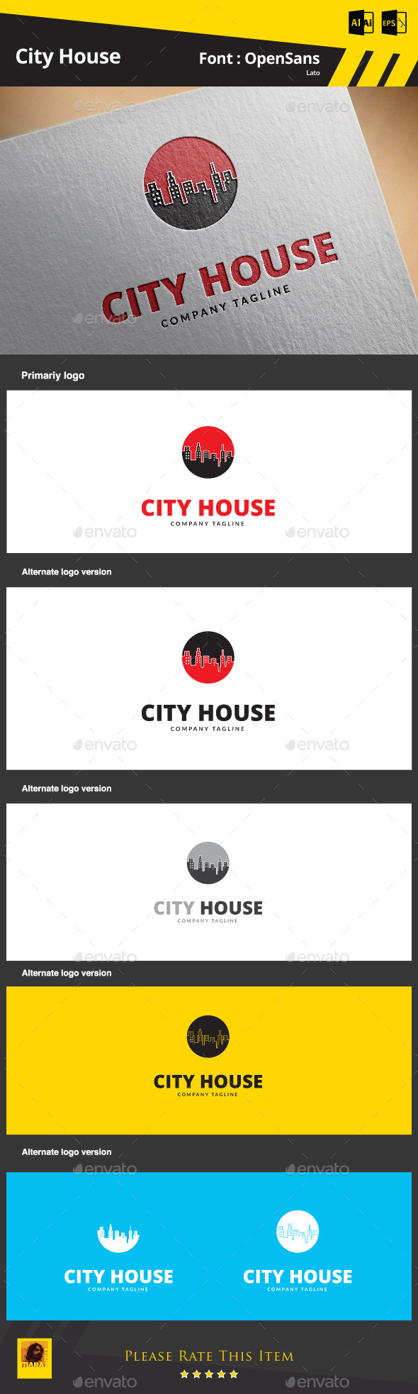 City House - Buildings Logo Templates