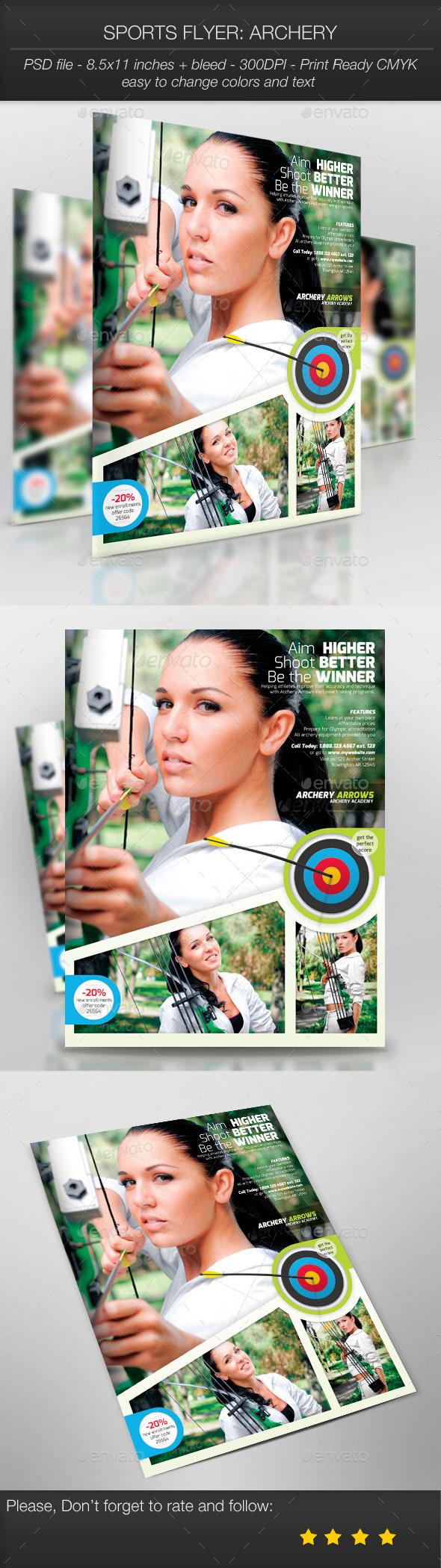 Sports Flyer: Archery - Sports Events
