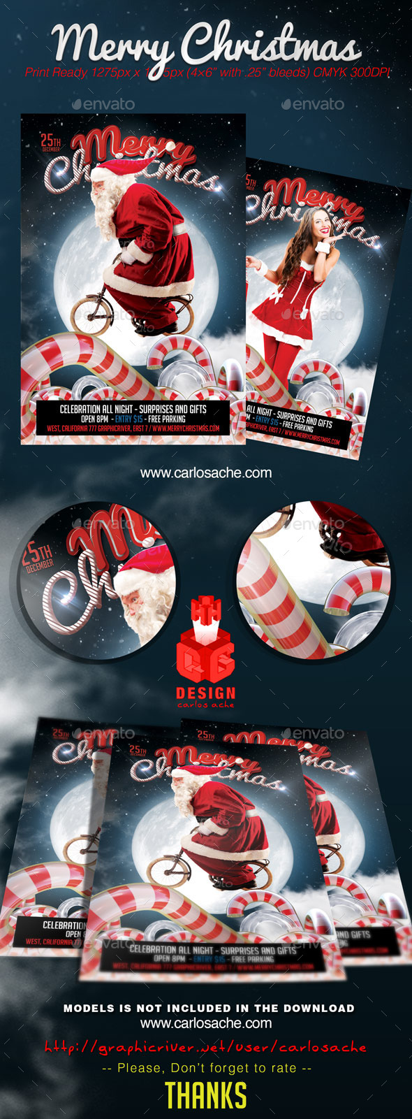 Merry Christmas - Flyer Template - Holidays Events