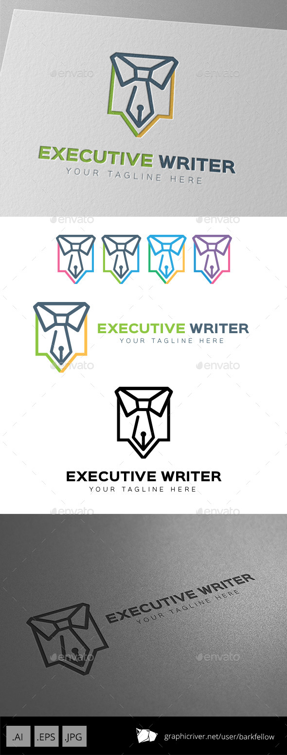 Executive Writer Logo Template - Symbols Logo Templates