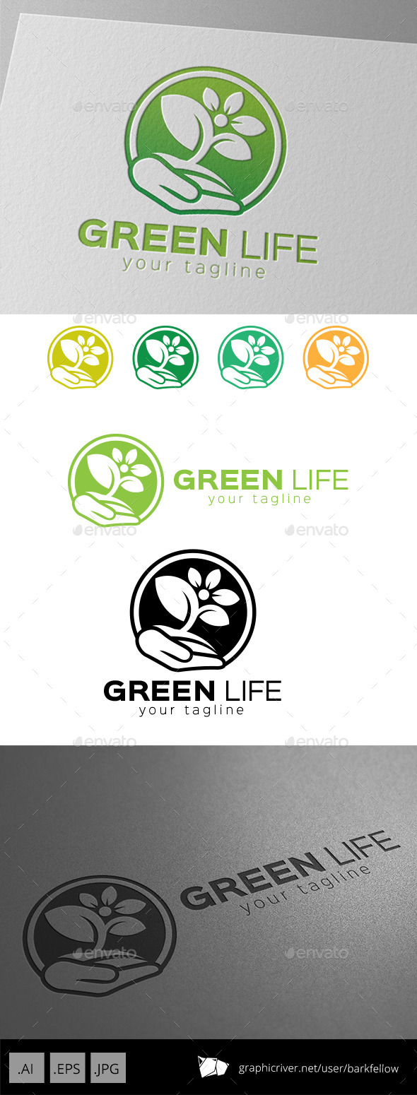 Save Green Life Logo - Nature Logo Templates