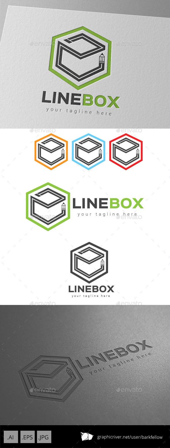 Line Box Art Logo - Symbols Logo Templates