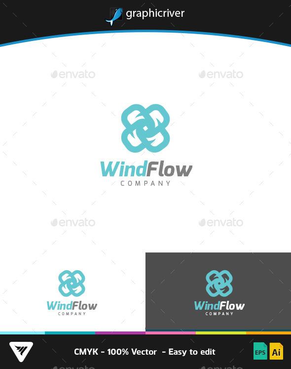 WindFlow Logo - Logo Templates