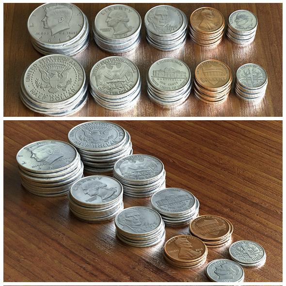 US Dollar Coins Set - 3DOcean Item for Sale