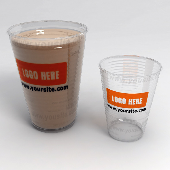 Plastic Cups with LOGO - 3DOcean Item for Sale