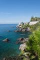 coastline in Genova Nervi