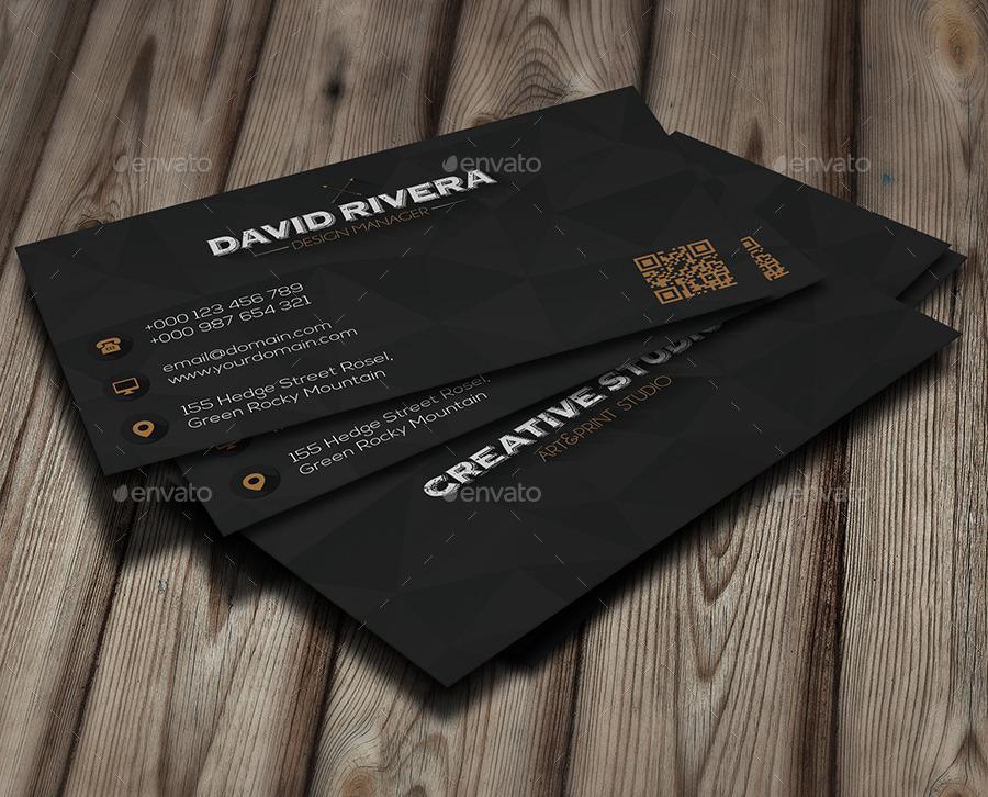 Black diamond business card by infenixx graphicriver black diamond business card creative business cards 1g colourmoves