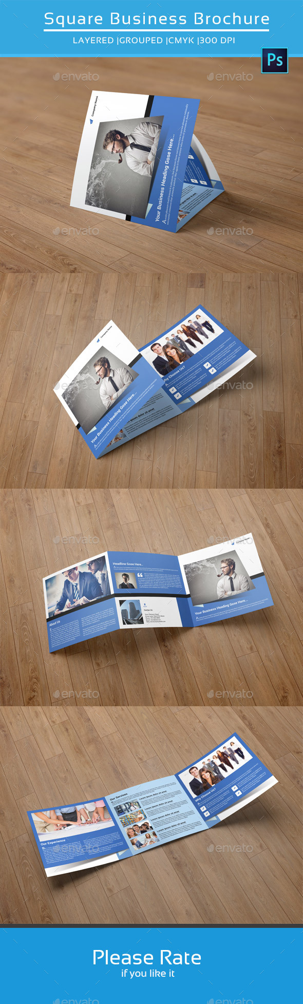 Business Square Trifold Brochure-V43 - Corporate Brochures