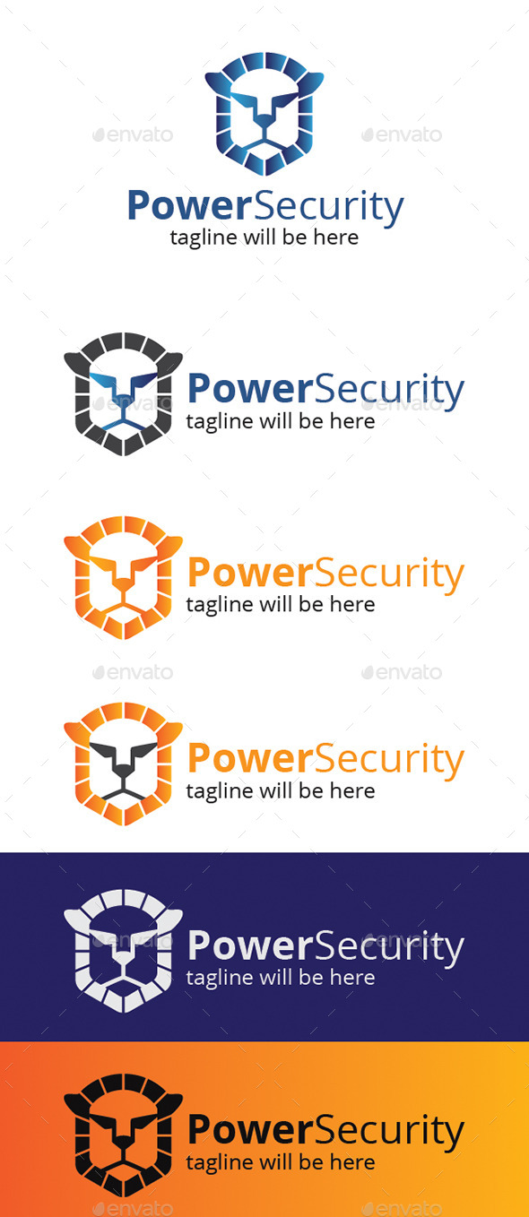 Power Security Logo - Animals Logo Templates