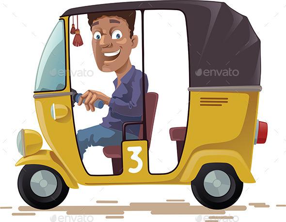 Asian Rickshaw - People Characters