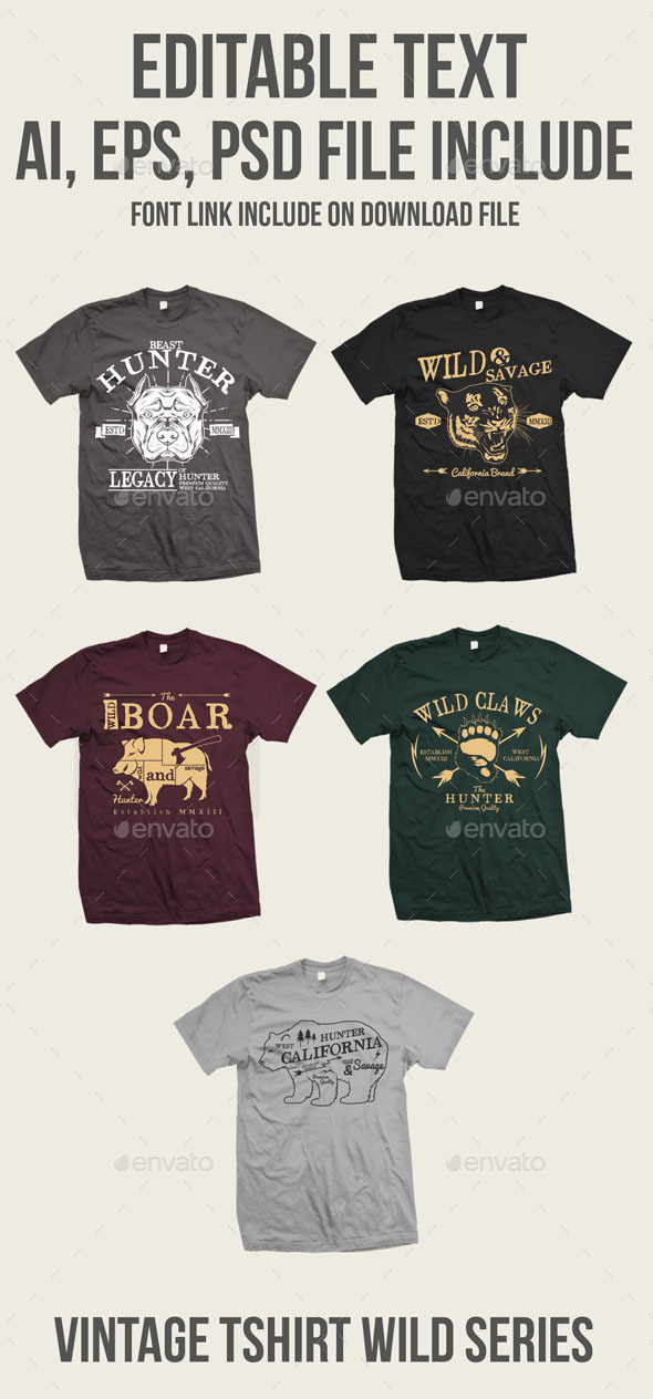 5 Vintage Wild Tshirt - T-Shirts