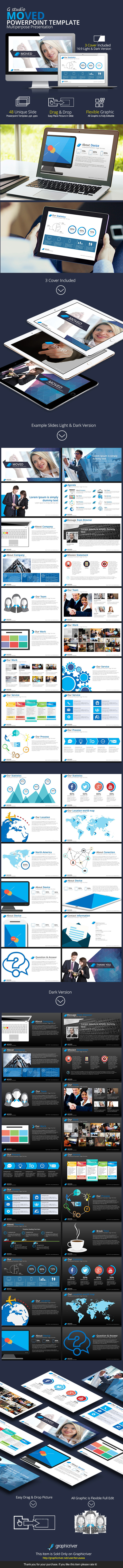 Moved Powerpoint Template - Business PowerPoint Templates