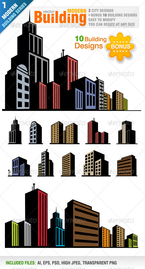 Modern Buildings - Buildings Objects