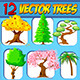Vector Trees - Set - GraphicRiver Item for Sale