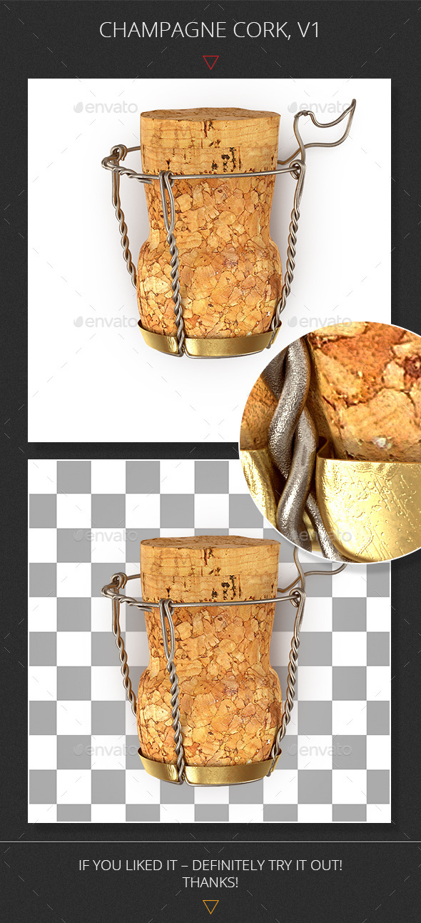 Champagne Cork, v1 - Objects 3D Renders