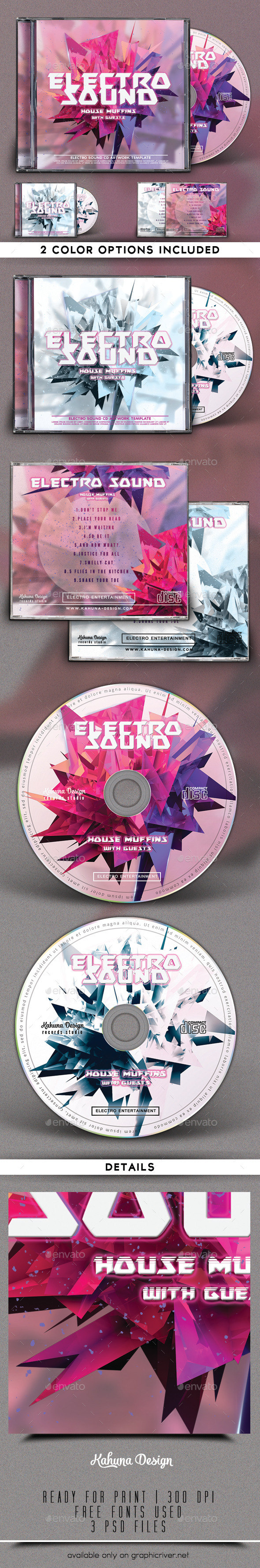 Electro Sound CD Artwork - CD & DVD Artwork Print Templates