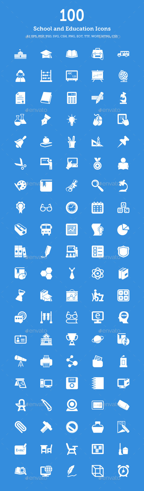 School and Education Vector Icons - Icons