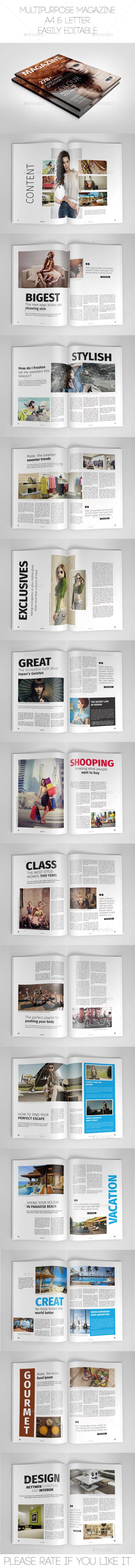 Multipurpose Magazine - Magazines Print Templates
