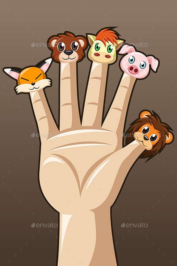Puppet Fingers - People Characters