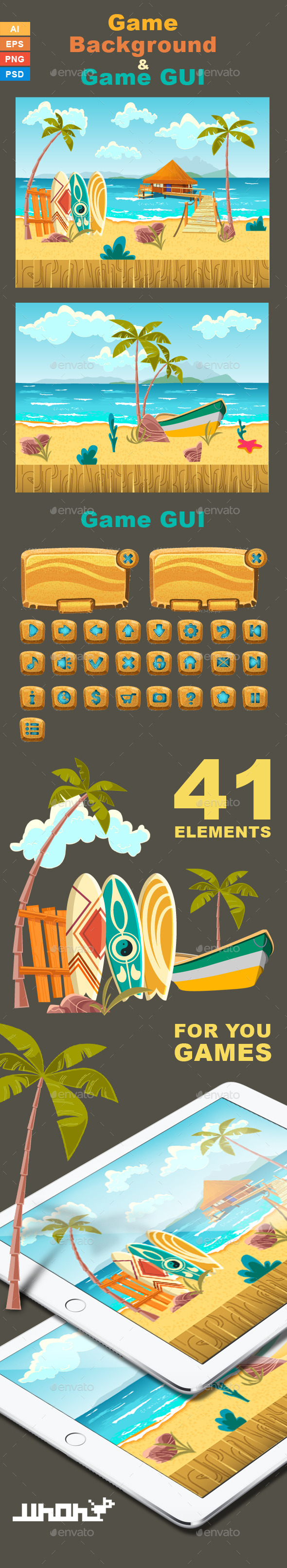 Game Background Beach - Backgrounds Game Assets
