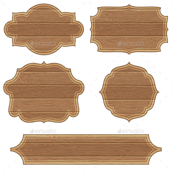 Retro Wooden Frames - Borders Decorative