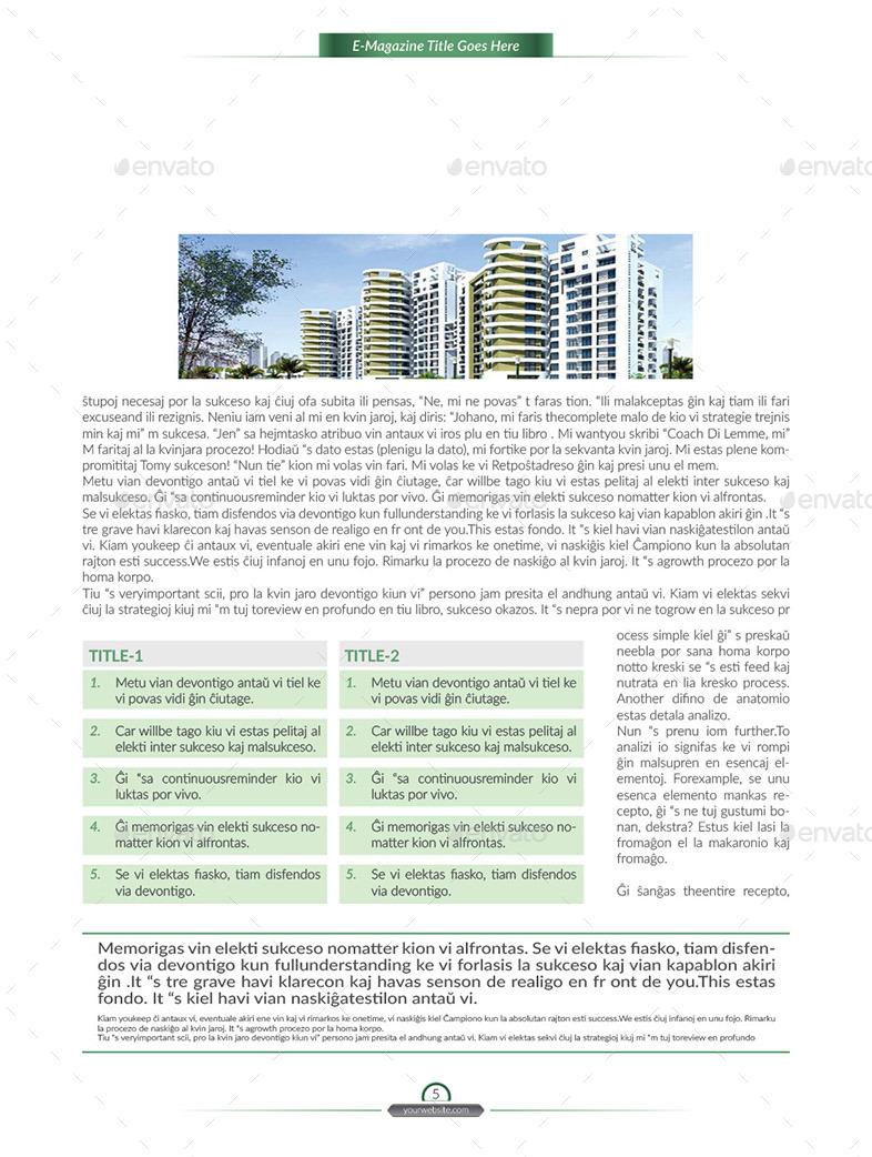E-Magazine Template V-1 By Designway4u