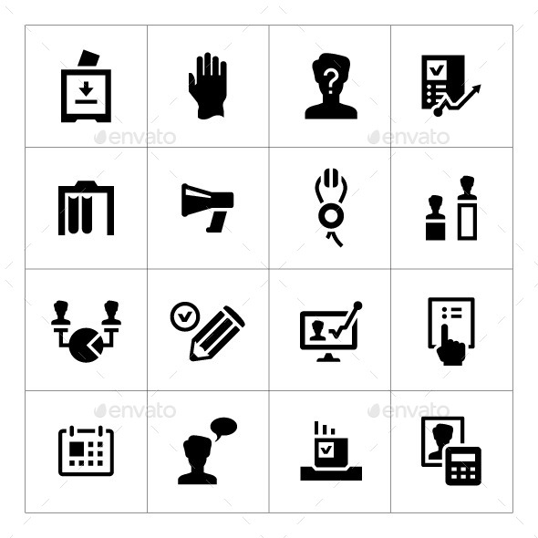 Set Icons of Elections - Abstract Icons