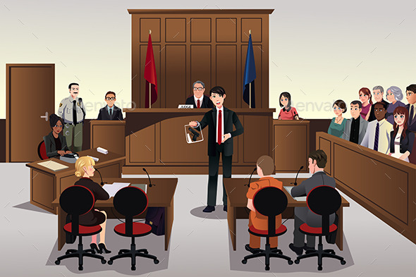 Court Scene - People Characters