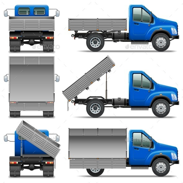 Lorry Icons Set 4 - Industries Business