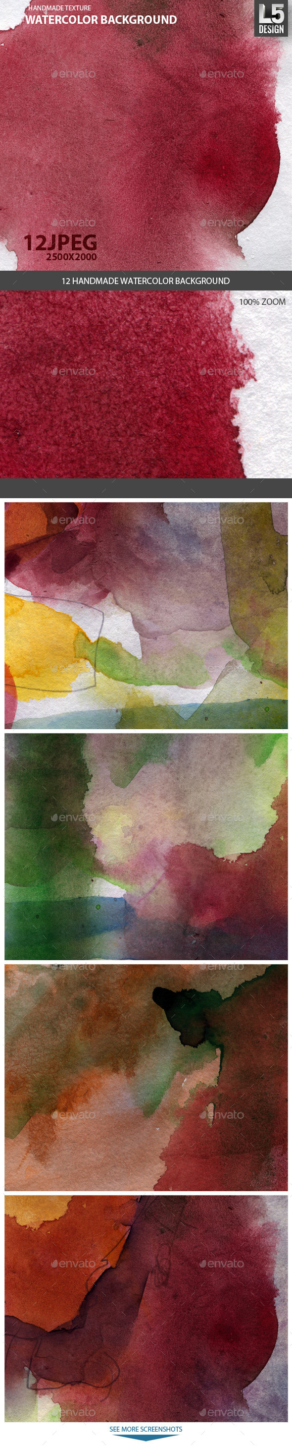 12 Watercolor Backgrounds - Abstract Backgrounds