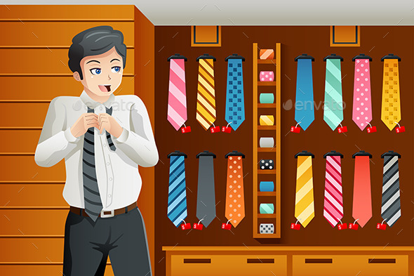 Man Shopping for a Tie - Commercial / Shopping Conceptual