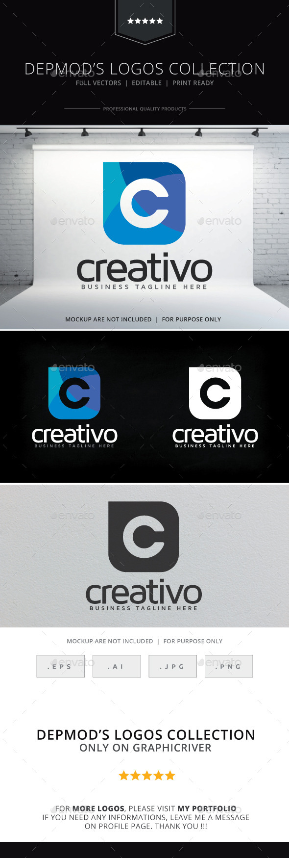 Creativo Logo - Letters Logo Templates