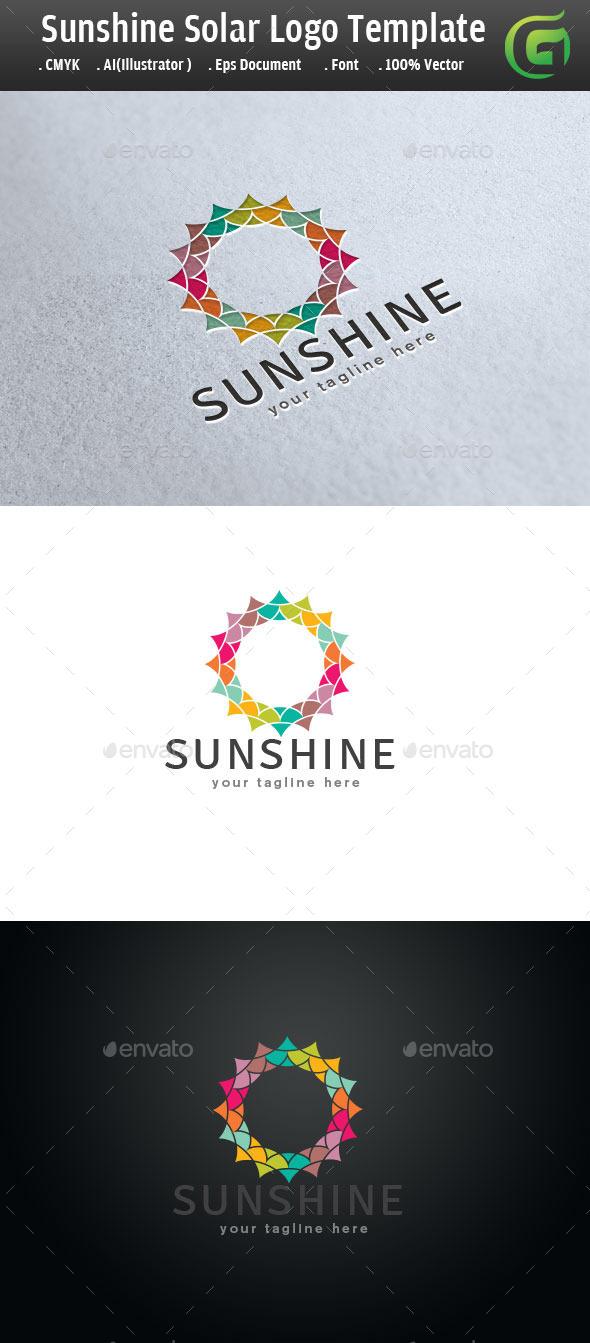 Sunshine Solar Flower Logo - Symbols Logo Templates
