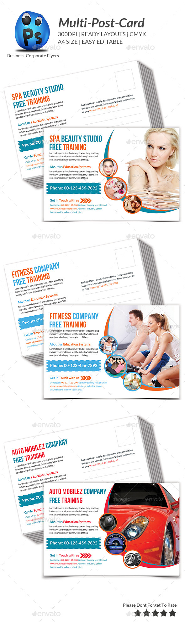 Multipurpose Business Postcard Template - Cards & Invites Print Templates