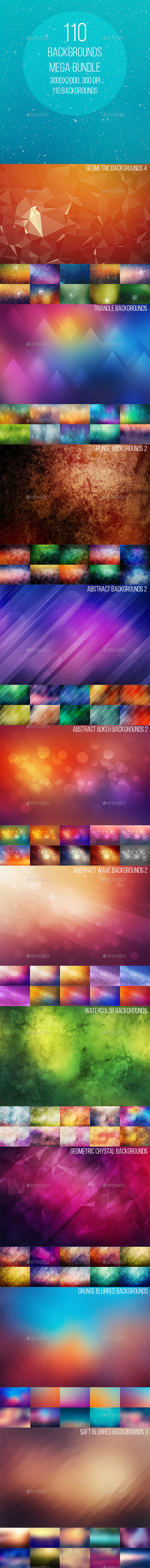 110 Backgrounds Mega Bundle - Abstract Backgrounds