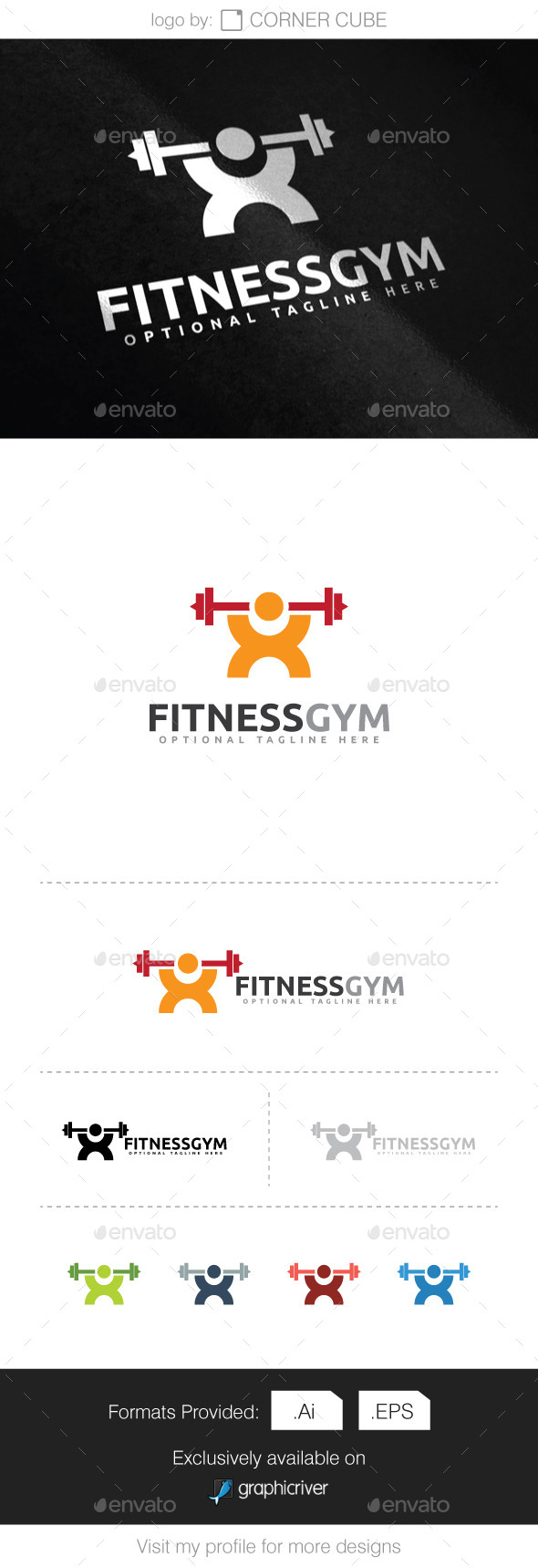Fitness Gym  Logo - Logo Templates