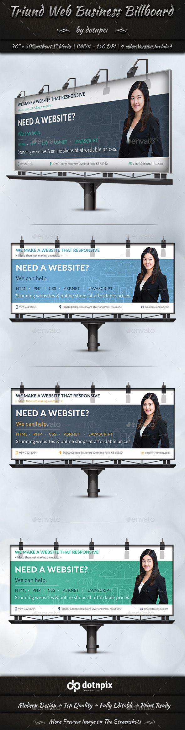 Triund Web Business Billboard - Signage Print Templates