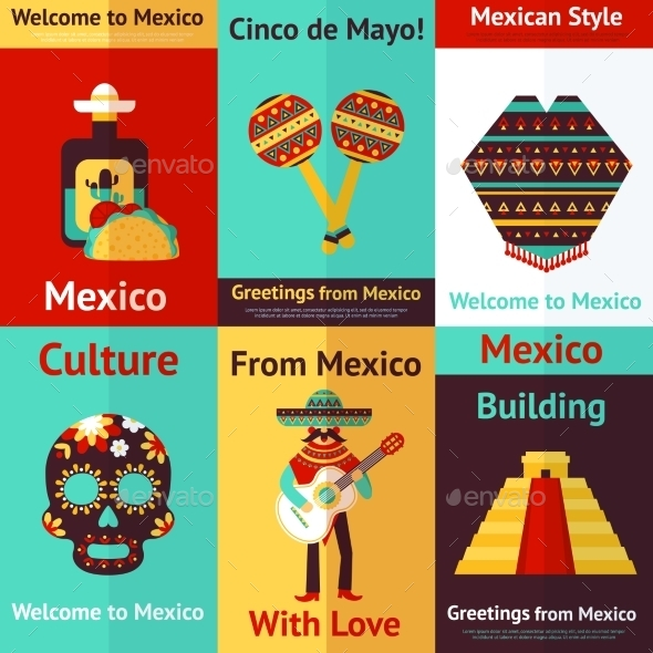 Mexico Retro Poster - Travel Conceptual