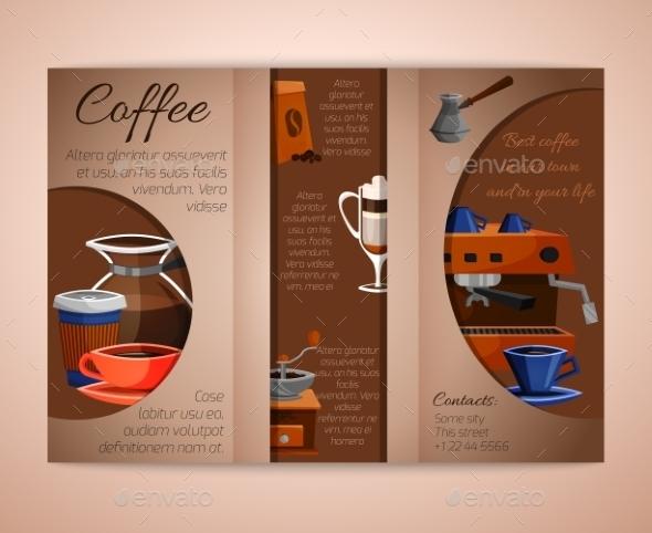 Coffee Brochure Tri-Fold - Food Objects