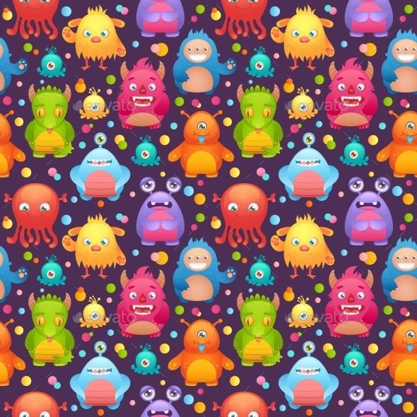 Monsters Set - Backgrounds Decorative