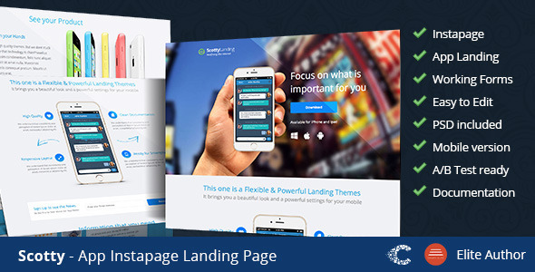 Scotty - Instapage App Landing Page - Instapage Marketing