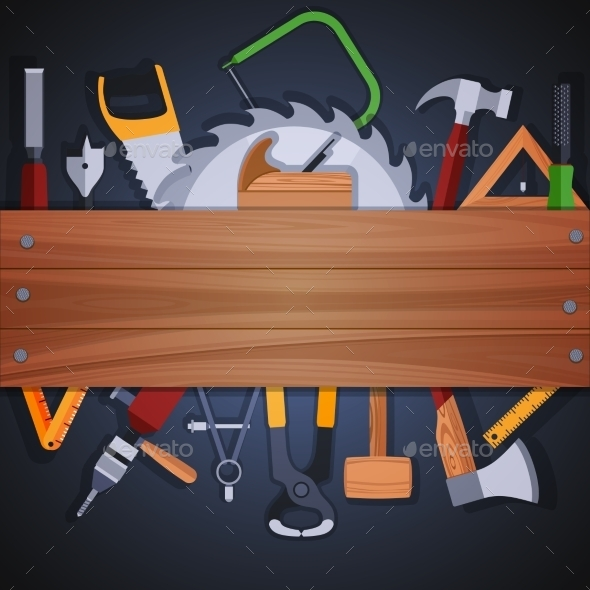 Carpentry Tools Background - Backgrounds Decorative