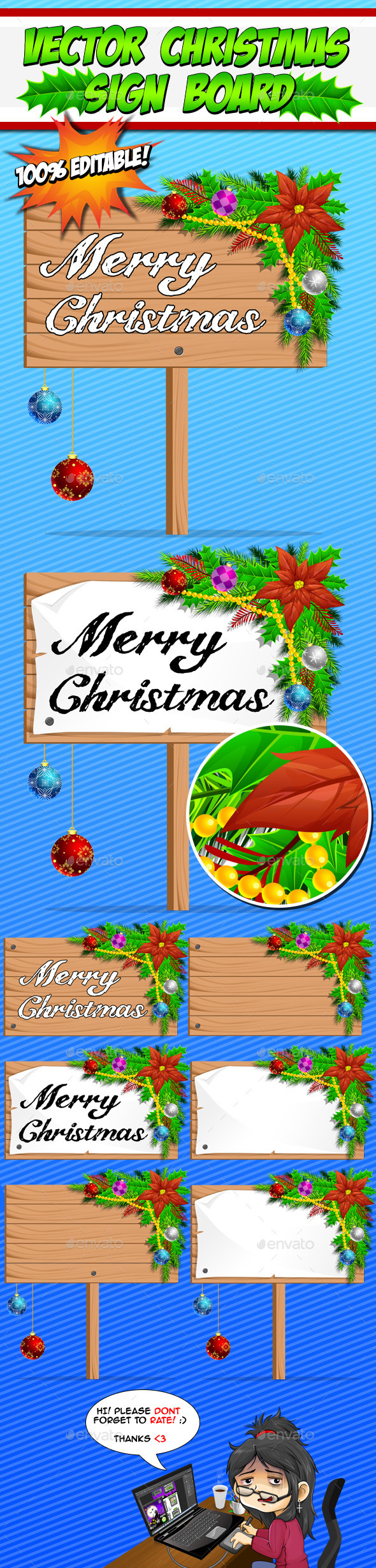 Vector Christmas Sign Boards - Miscellaneous Backgrounds