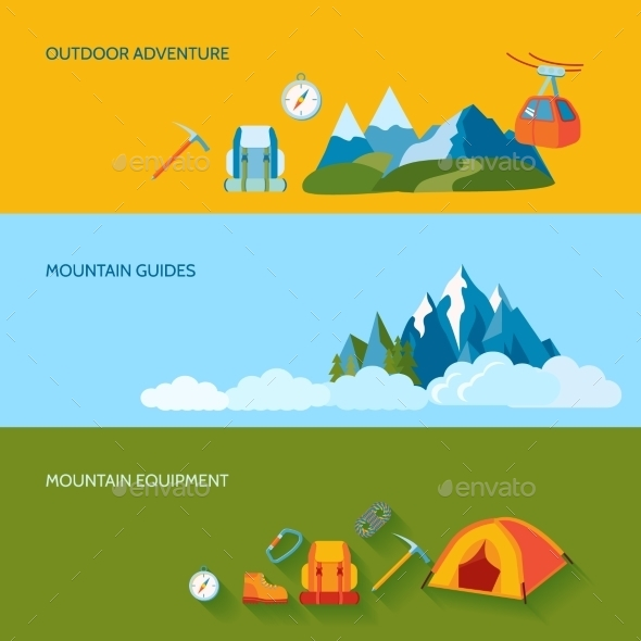 Camping Banner Set - Travel Conceptual